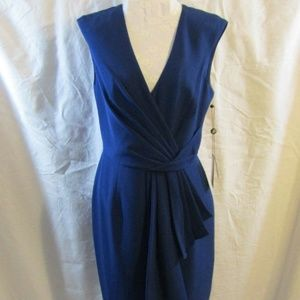 Adrianna Papell Blue Draped Dress